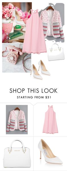 """""""Untitled #449"""" by stelastela ❤ liked on Polyvore featuring MANGO, MICHAEL Michael Kors and Jimmy Choo"""