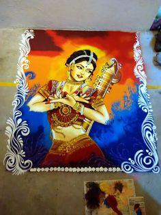 Flower Art Drawing Paint Simple New Ideas Easy Rangoli Designs Videos, Rangoli Designs Latest, Rangoli Border Designs, Rangoli Ideas, Colorful Rangoli Designs, Rangoli Designs Diwali, Rangoli Designs Images, Beautiful Rangoli Designs, Kolam Rangoli