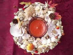 Another wonderful Autumn Centerpiece Seashell Centerpieces, Autumn Centerpieces, Beach Wedding Centerpieces, Seaside Shops, Types Of Themes, Wedding Themes, Sea Shells, Color, Etsy