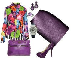 """Purple"" by celene310 on Polyvore"