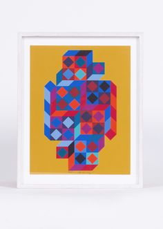 Unique serigraphy by the famous artist Victor Vasarely ( 1906 - 1997 ). Piece executed for the editions of the Griffon. Former collection of Marcel Joray (Griffon Edition). Very good condition. Signed in pencil. Victor Vasarely, Late 20th Century, Op Art, Famous Artists, Vintage Furniture, Printmaking, Contemporary Design, Vintage Antiques, Objects