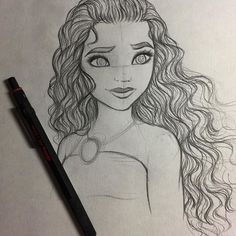 I love this drawing because of her very curly and voluminous hair, also because I loved Moana.-Stephany Vera