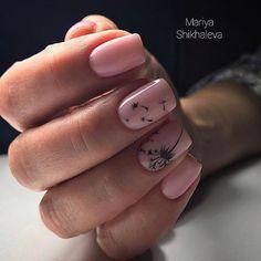 Dandlion nail art