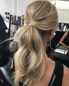 Low Wrapped Ponytail