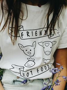 UNISEX Vegan Clothing Friends Not Food Vegan Shirt Vegan T | Etsy Vegan Clothing, Vegan Gifts, Vegan Fashion, Cotton Lights, Gifts For Her, Style Inspiration, T Shirts For Women, Unisex, Trending Outfits