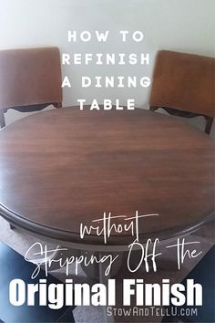 Refinishing a Pine Wood Dining Table without Stripping original coat. - How to Refinish Wood Dining Table without Stripping Off the Original Coat – Refinish Dining Tables, Refinishing Kitchen Tables, Refinished Table, Diy Dining Room Table, Diy Table Top, Furniture Refinishing, Refurbished Furniture, Furniture Redo, Painting Furniture