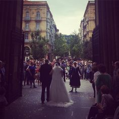 Una preciosa boda celebrada en la parte vieja de San Sebastián/ A beautiful wedding celebrated in the old part of san Sebastian.