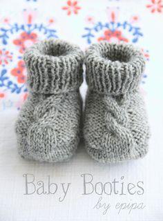 Baby Knitting Patterns Yarn Knitting instructions for baby booties for free knitting – Bootie knitting Baby Booties Knitting Pattern, Knitted Booties, Easy Knitting Patterns, Crochet Baby Booties, Knitting For Kids, Knitting Socks, Free Knitting, Knitting Projects, Knit Crochet