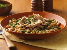 Slow Cooker Tuscan Turkey and Beans - This looks awesome, thanks Vanessa!