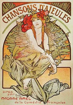 These prints represent the 'very best' of Alphonse Mucha and Art Nouveau. Get an instant Art Nouveau display with Alphonse Mucha. Dance At the Sight of 2 Stalks, the Owl Rose Each print is presented on a heavyweight light canvas effect fine art paper. Mucha Art Nouveau, Alphonse Mucha Art, Art Nouveau Poster, Arte Art Deco, Illustration Art Nouveau, Jugendstil Design, Illustrator, Kunst Poster, Inspiration Art