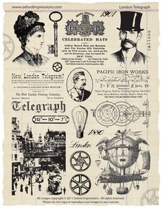 London Telegraph-Stempel-Sammlung - Steampunk