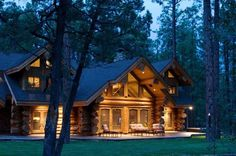 Gorgeous log home living