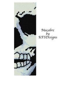Peyote Bracelet Pattern Macabre Buy 2 Patterns get by KFSDesigns, $6.50