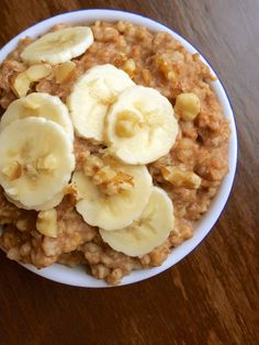 Slow Cooker Banana Nut Oatmeal #slowcooker #banana #oatmeal
