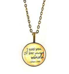 Necklace Valentine Elfen Lied Quote Bronze by TheCraftyPandaGirl, $19.50
