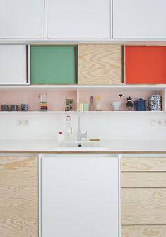 Dries Otten Colour Block Kitchens ♡ - Cute