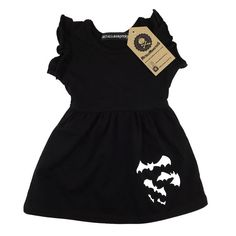 Black bats baby dress by Metallimonsters on Etsy