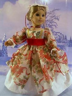 Williamsburg Christmas Sparkle Fits American Girl Elizabeth Felicity 18 in Doll | by drommer0 via eBay