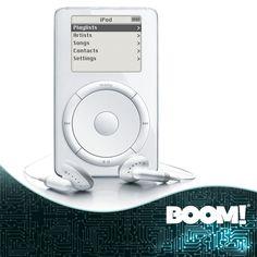 Hoy se cumplen 12 años del  lanzamiento del genial reproductor de audio #iPod. #DatoBOOM