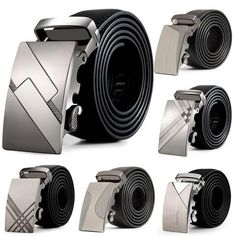 Fashion Design 2017 leather strap male automatic buckle belts