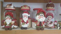 Frascos navideños! Papá Noel.                                                                                                                                                      Más