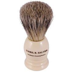 Cyril R Salter Bristle and Badger Shaving Brush - Cream - Bristle Shaving Brushes - Shaving Brushes