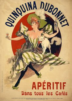 Quinquina Dubonnet Apéritif. Vintage French advertisement, 1895. #vintage #french