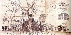 Historical Map of Brighton, East Sussex - circa 1823