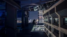 Urban Rooftop at Night [1600 x 900] - Imgur