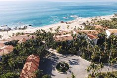 Aerial shot of the One and Only Palmilla in Cabo, Mexico taken on a drone.