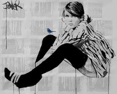 untitled moment, Loui Jover  Somewhat reminds me of the nymphs spoken of in Lolita by Nabokov