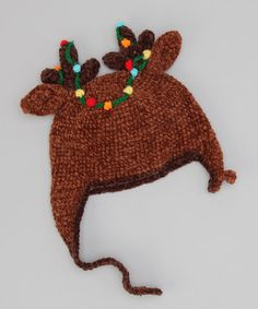 Love this Brown Reindeer Earflap Beanie on #zulily! #zulilyfinds