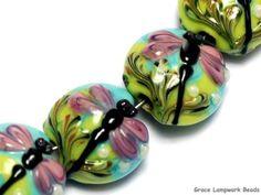 grace lampwork beads artisan handmade glass beads sra four purple dr