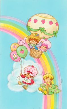 Up up and away with Strawberry Shortcake and friends!