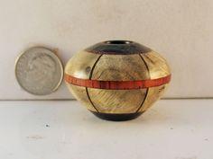 Brian Hart, Hartwood Turning - burl/paduak/blackwood SEGMENTED hollow vase