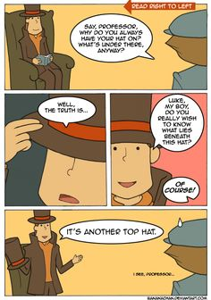 """This is from either """"Diabolical box"""" or """"Unwound future"""" since both shows that Professor Layton has two hats."""