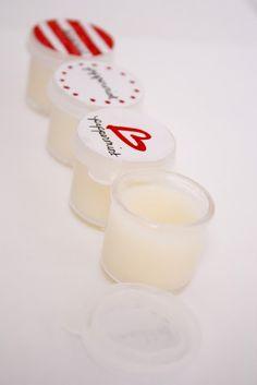 1-2 TBSP. grated beeswax  2-3 TBSP. coconut oil  1/2 TBSP. sweet almond oil  5-10 drops of essential oil {added off heat