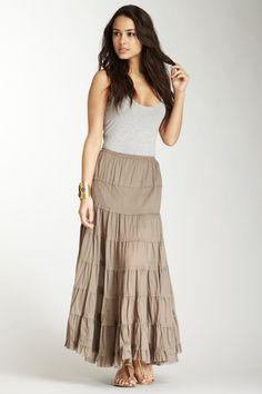 Maxi skirt Long Summer Skirt in Grey Blue Linen Bud Maxi Skirt ...