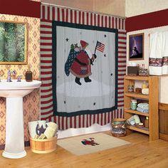 Found it at Wayfair - Patch Magic Colonial Santa Cotton Shower Curtainhttp://www.wayfair.com/Patch-Magic-Colonial-Santa-Cotton-Shower-Curtain-CZCOLS-PMQ3388.html?refid=SBP.rBAZEVQodJi-ohTpWtELAgAAAAAAAAAAAAAAAAAAAAA