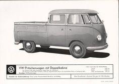 VW - 1958 - VW-Pritschenwagen mit Doppelkabine - w 2/54g - [1603]-1