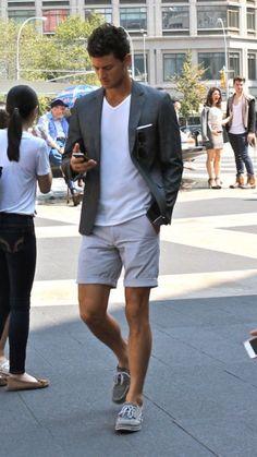 look masculino bermuda blazer