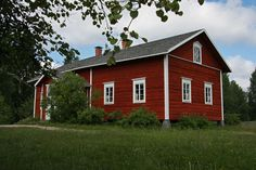 Looks like my dream home. I want house look like this. (Old Finnish country house in Seitseminen Finland. Norwegian House, Swedish House, Red Houses, Little Houses, Red Cottage, Cottage Homes, Build Your Dream Home, My Dream Home, Cabin Design