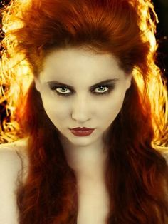 A portrait of a girl with red hair, backlit to make her hair look like flames staring at the camera. spot on Girl With Green Eyes, Girls With Red Hair, People Photography, Beauty Photography, Elizabeth May, Hot Goth Girls, Long Red Hair, Beautiful Redhead, Crazy Hair