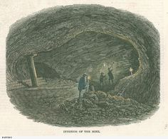 Burra Burra Mine - Interior of the Mine 1847 Historical Pictures, South Australia, Family History, The Past, Landscapes, In This Moment, Interior, Painting, Art