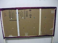 Cardboard Headboard, Diy Cardboard, Diy King Size Headboard, Double Headboard, Homemade Headboards, Tufted Headboards, Diy Furniture Projects, Home Projects, Bedroom Decor