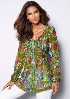 67c82a43b9 Halenka s dlouhými rukávy  ModinoCZ  fashion  flowers  tunic  colours   longsleeves  móda  tunika  květiny  potisk