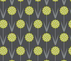 allium fabric by troismiettes on Spoonflower - custom fabric
