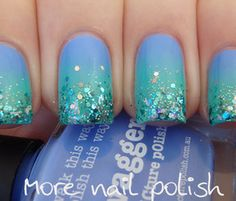 Mermaid nails - sooooo fun!!