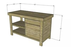 11 DIY Kitchen Island Woodworking Plans: Napa New American Barnwood Kitchen Island Plan from Designs by Studio C