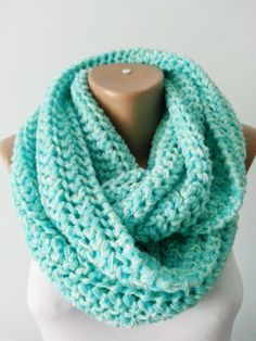 Knitted Scarf, Infinity Scarf,Circle Scarf from knit and crochet world by DaWanda.com